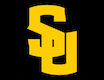 interlocking yellow SU on black square logo